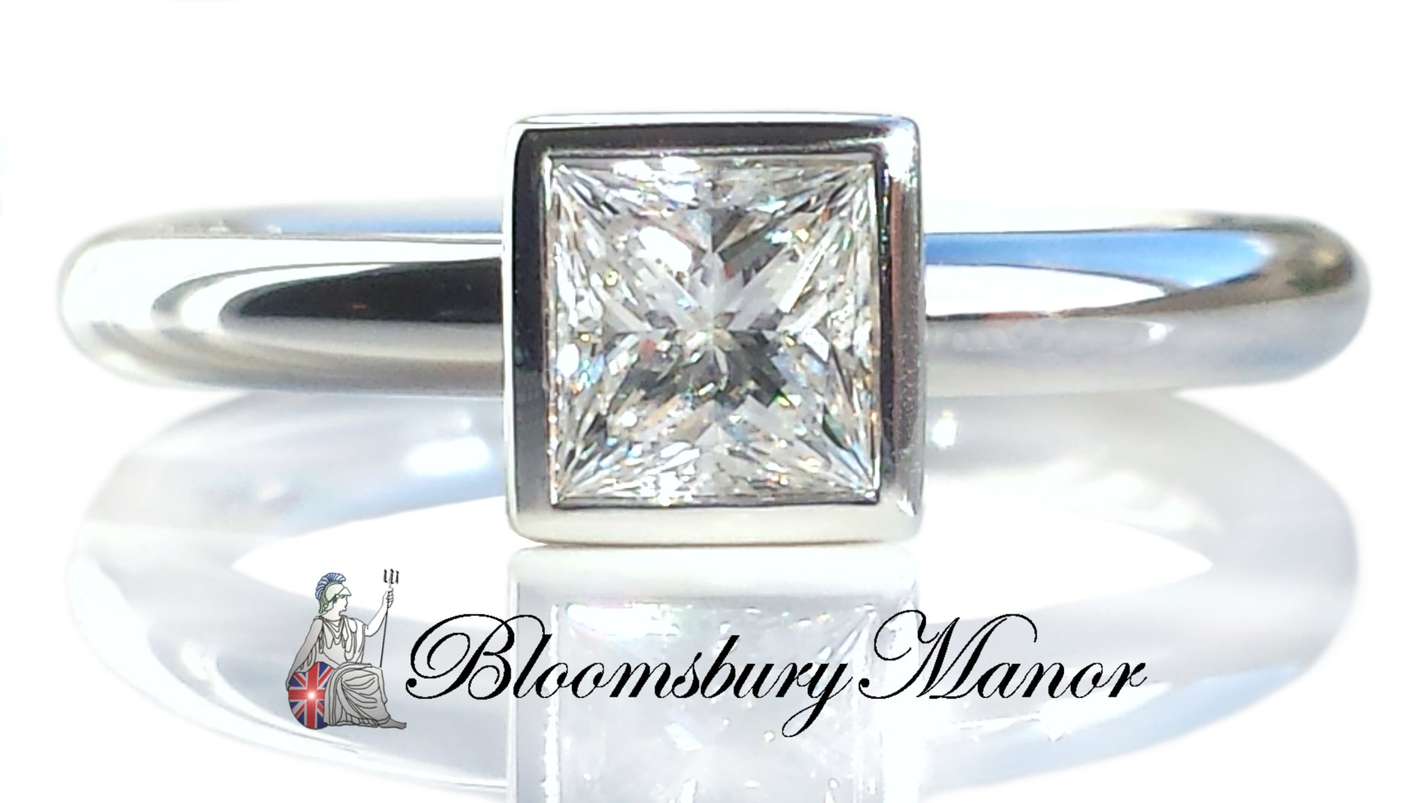princess windows engagement shop rings wedding diamond cut bezambar ring
