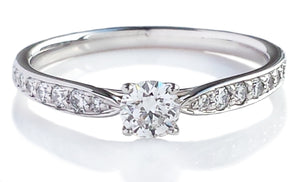 Tiffany & Co. 0.24ct G/VVS2 Harmony Round Brilliant Cut Diamond Engagement Ring