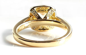1.31ct Natural Fancy Yellow FY/VS2 Diamond Halo style Engagement Ring 18k Gold