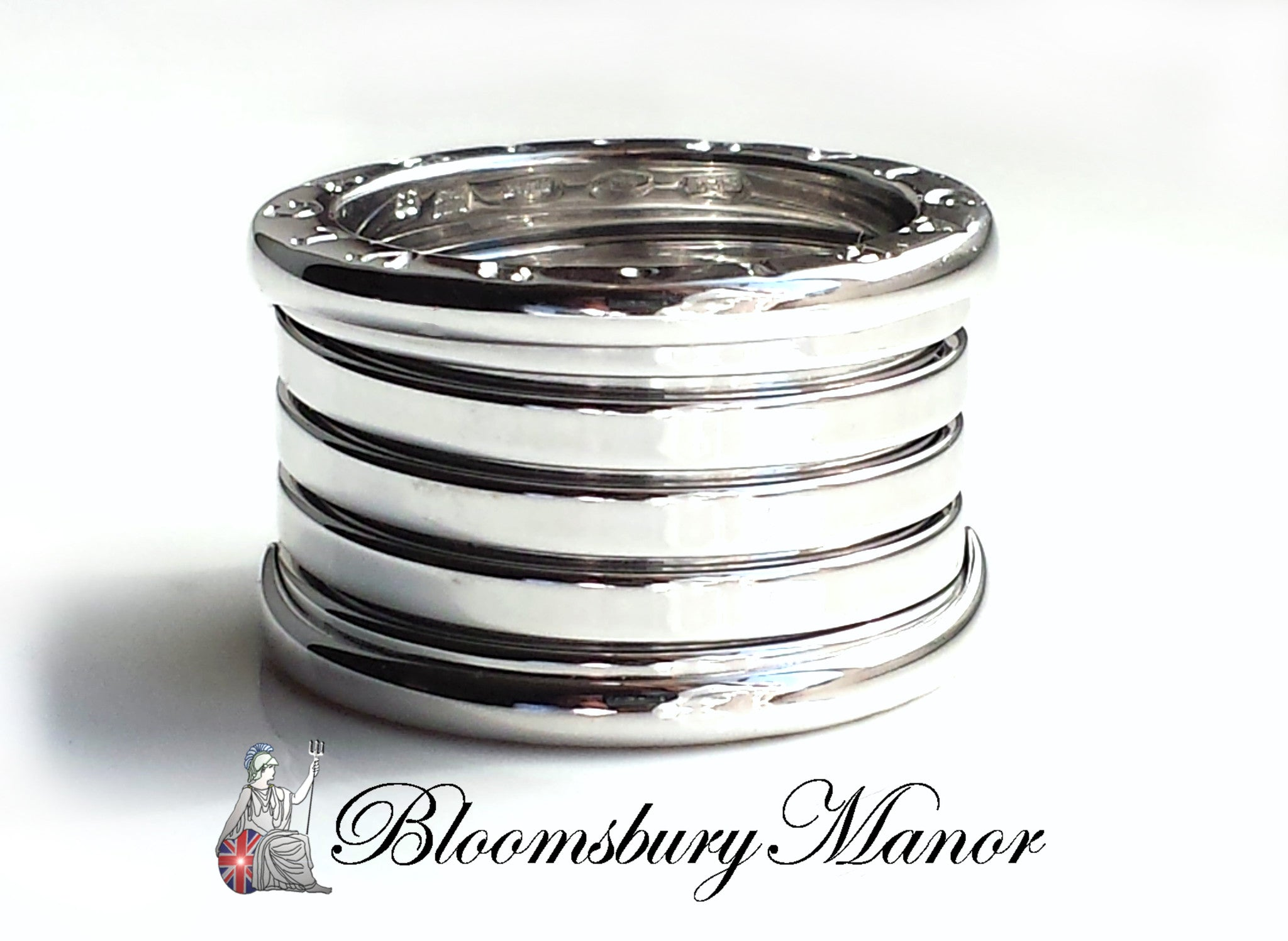 d93a32fb0 Bulgari Bvlgari 5-Band B.Zero1 Ring in 18K White Gold, Size 53 (UK M) -  Bloomsbury Manor Ltd