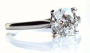 Cartier 1.22ct F/VS1 1895 Solitaire Diamond Engagement Ring