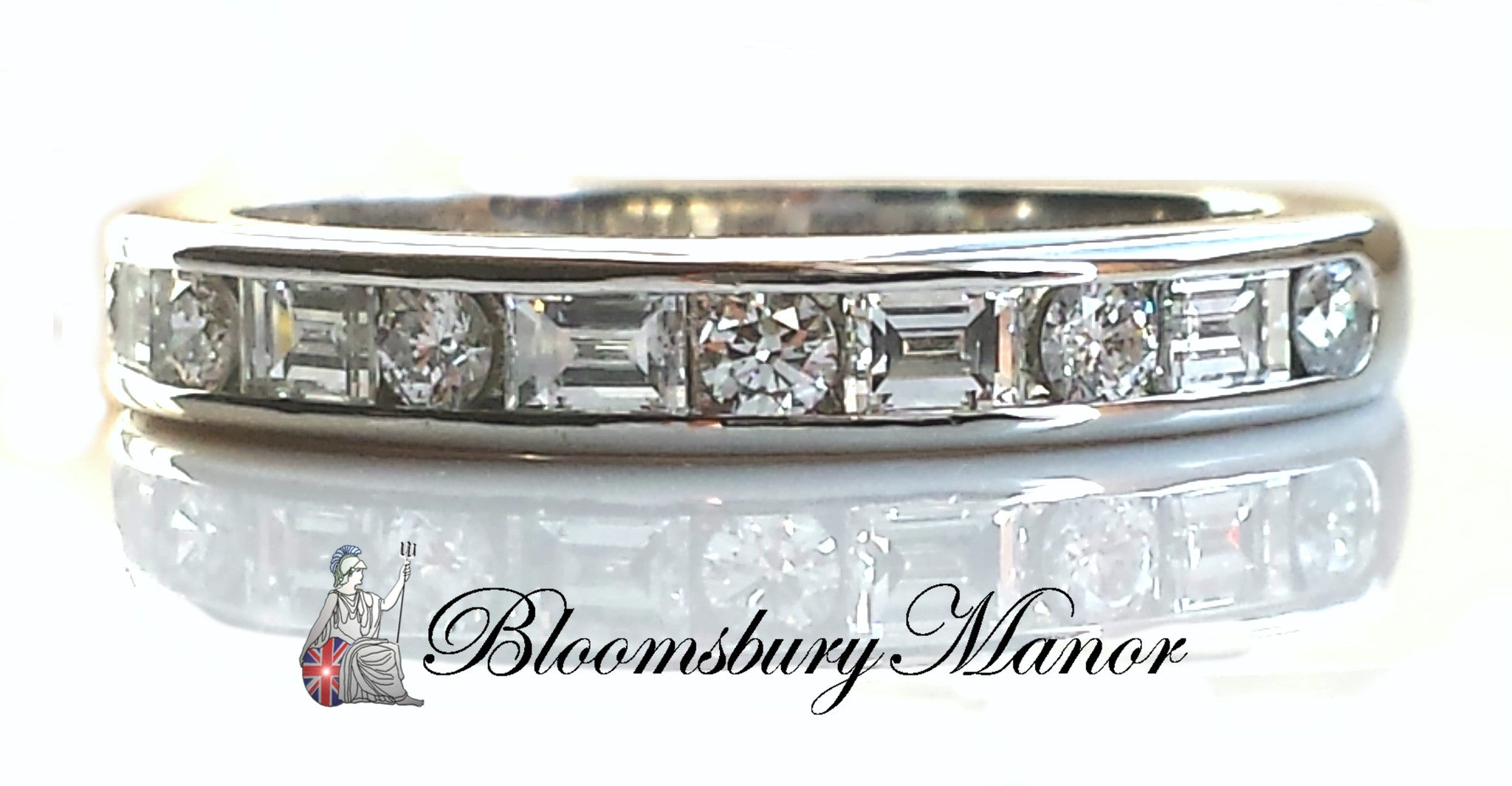 diamond bands tiffany platinum co band wedding eternity baguette anniversary ring