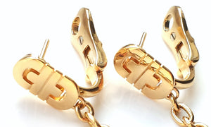 Bulgari / Bvlgari Parentesi Drop Earrings in 18k Yellow Gold – as new