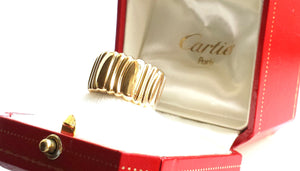 Vintage Cartier 1990s Casque D'or Ring in 18k Yellow Gold, Size 51