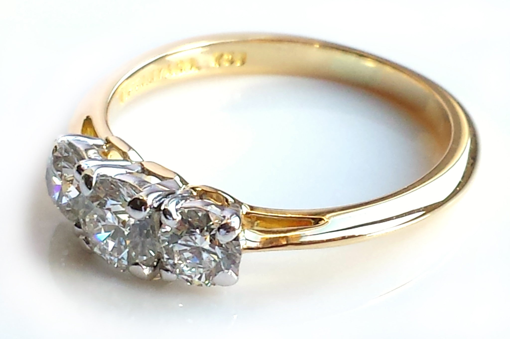 tone products upon gold stone marquise engagement once ring a two jewellery diamond