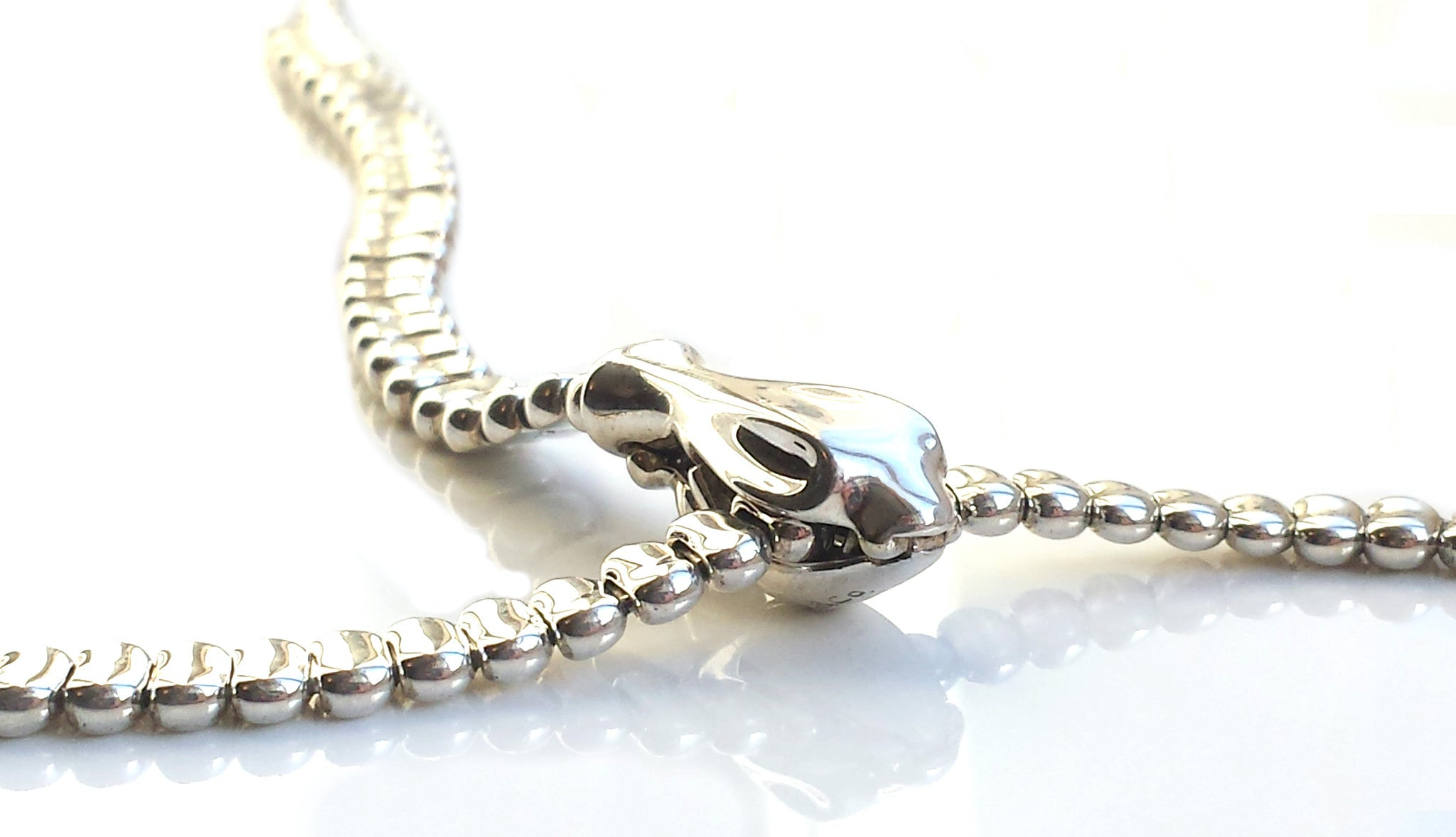 e160cf62a Tiffany & Co. Sterling Silver 28 inch Serpent / Snake Necklace by Peretti,  with Box & Case