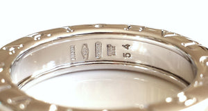Bulgari Bvlgari 1 Band B.Zero1 Ring in 18k White Gold. Size 54, (UK N)
