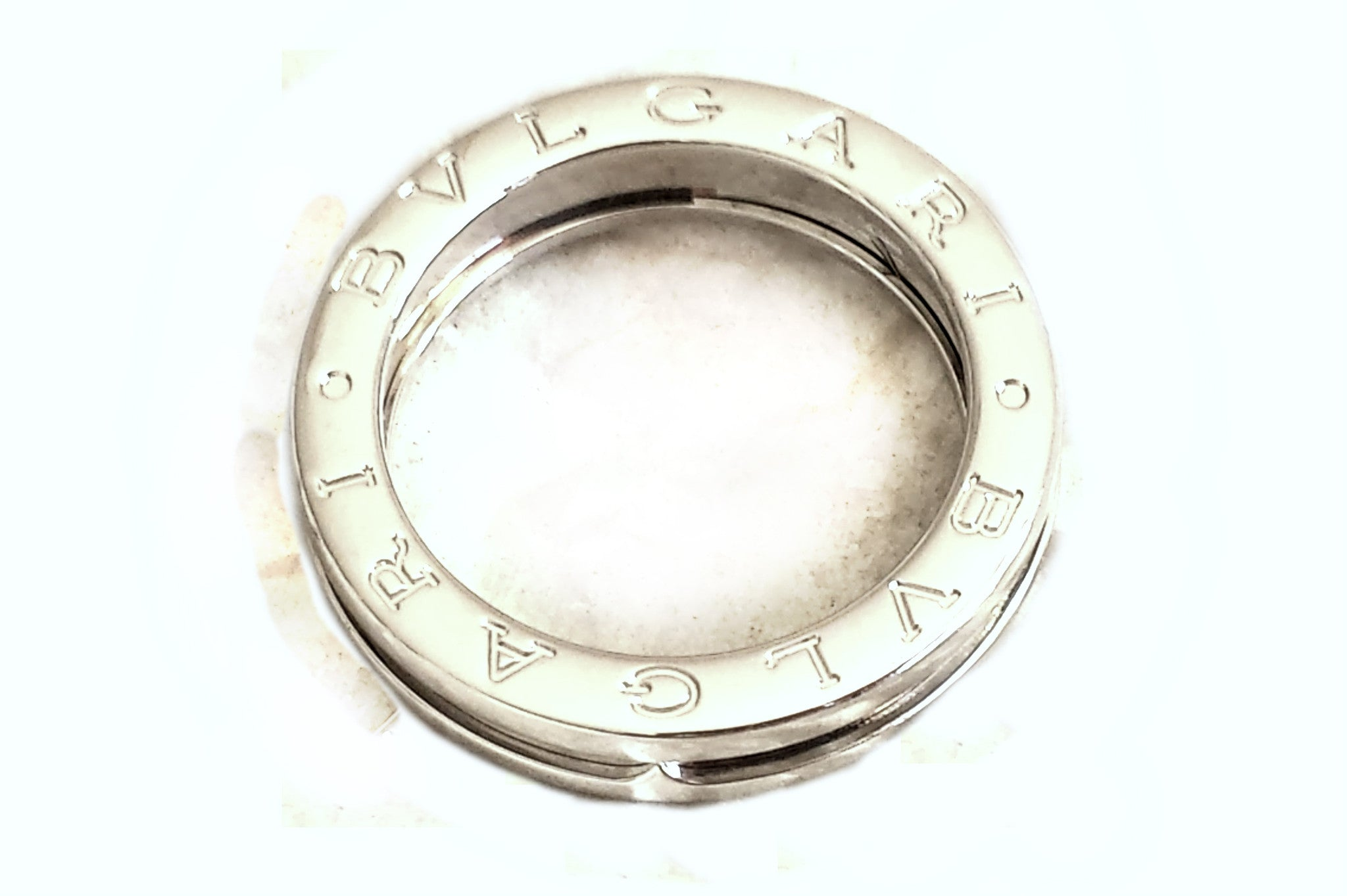 73eae14989cd6 Bulgari Bvlgari 1 Band BZero1 Ring in 18k White Gold, Size 54 (UK N ...