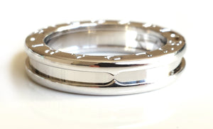 Bulgari Bvlgari 1 Band BZero1 Ring in 18k White Gold, Size 54 (UK N)