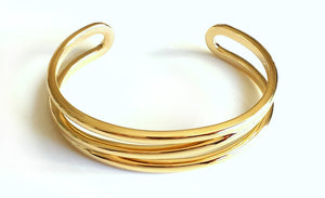 Tiffany & Co. 18k Yellow Gold Zig Zag Bracelet / Cuff / Bangle