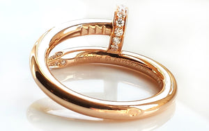 Cartier 18k Rose / Pink Gold & Diamond 'Juste Un Clou' Ring, Size 53