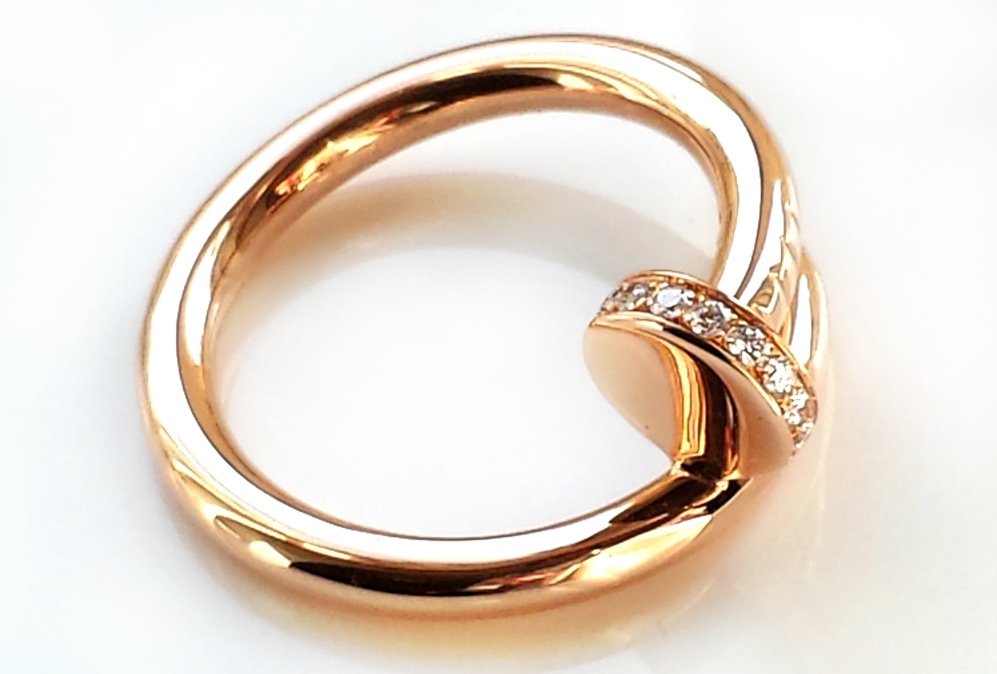 c2e1798903aee Cartier 18k Rose / Pink Gold & Diamond 'Juste Un Clou' Ring, Size 53