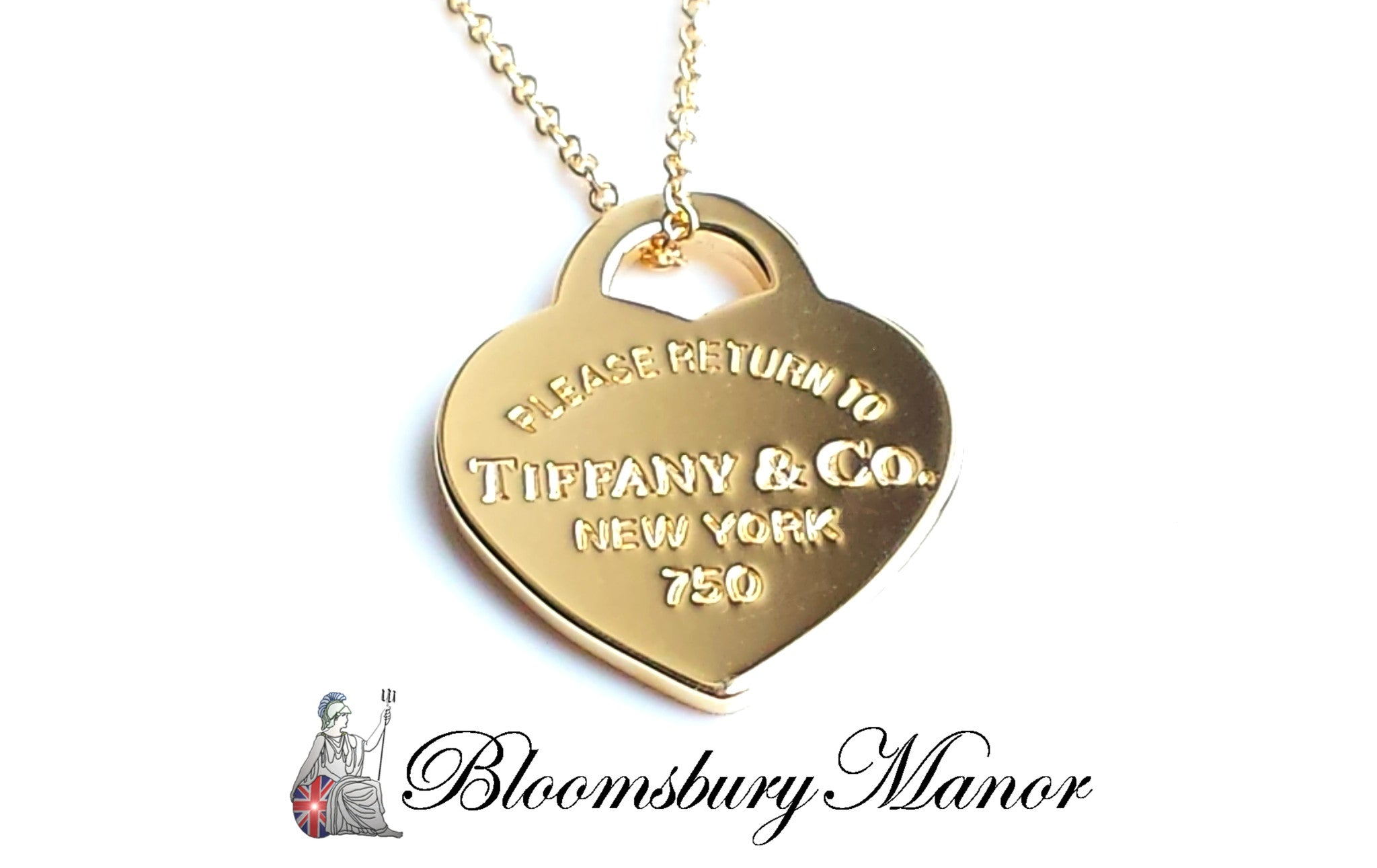 cbb4005ce Tiffany & Co. Please Return To 18k Gold Heart Pendant 16in MINT