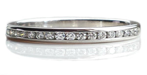 Tiffany & Co. 2mm 0.17ct Diamond & Platinum Eternity / Wedding Band