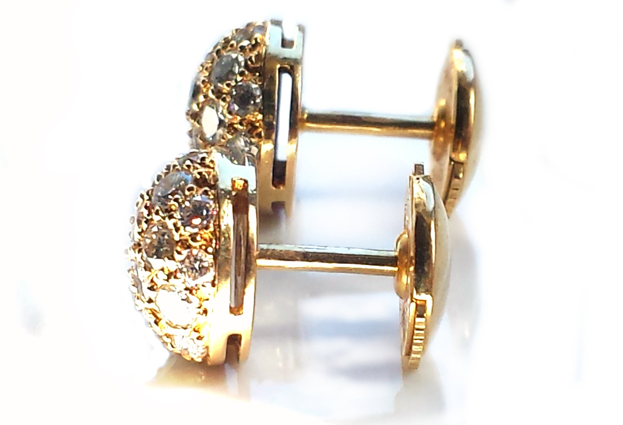 in earring gold stud silver and chain round main classic
