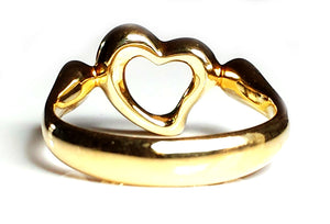 Tiffany & Co Elsa Peretti Diamond Open Heart Ring Gold Sz H