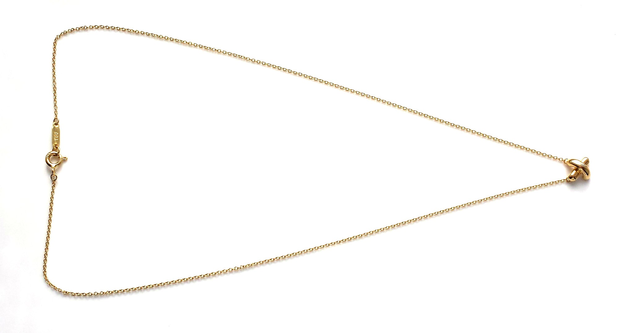 Tiffany & Co. Signature 'X' 18k Yellow Gold Pendant – 16 inch
