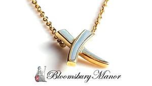 Tiffany & Co Paloma Picasso Kisses X 18k Yellow Gold Pendant 16 in
