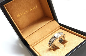 Bulgari BZero1 Pavé 0.38ct Diamond Engagement Ring in 18k White Gold, Size O