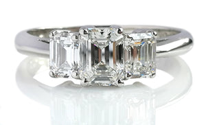 Tiffany & Co. 1.70tcw Emerald Cut 3-Stone Diamond Engagement Ring
