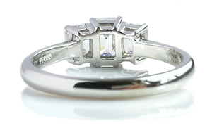 Tiffany & Co. 1.70tcw F/VVS2/VS1 Emerald Cut 3-Stone Diamond Engagement Ring