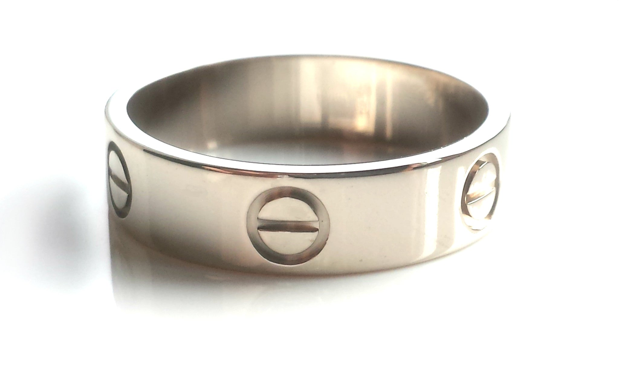 Cartier Love Ring Wedding Band In 18k White Gold 5 5mm Wide Size