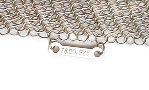 Tiffany & Co Elsa Peretti Large Mesh Scarf Sterling Silver 41.5 inches
