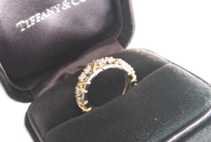 Tiffany & Co. Schlumberger Sixteen Stone 1.14ct Diamond Ring in Gold & Platinum, Size K (US 5)