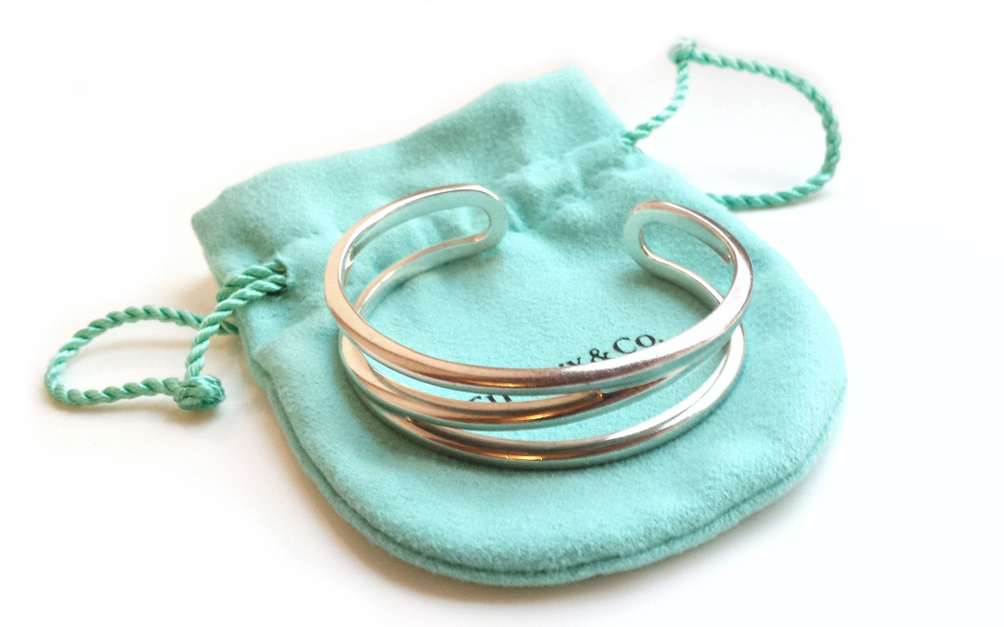 Tiffany & Co. Zig Zag Bracelet Sterling Silver – Small with Pouch