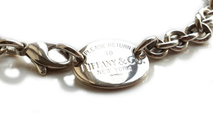 Tiffany & Co Sterling Silver Please Return To Choker/Necklace 15in