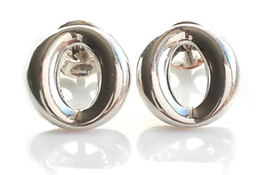 Tiffany & Co Sterling Silver Sevillana O Earrings