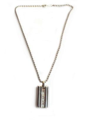 Tiffany & Co Atlas Necklace on Bead Link Chain