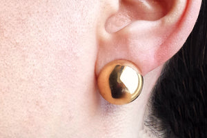 Vintage 1940s VCA Van Cleef & Arpels Dome 18k Gold Clip Earrings