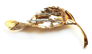 Vintage 1980s VCA Van Cleef & Arpels 18k Yellow Gold Leaf Brooch
