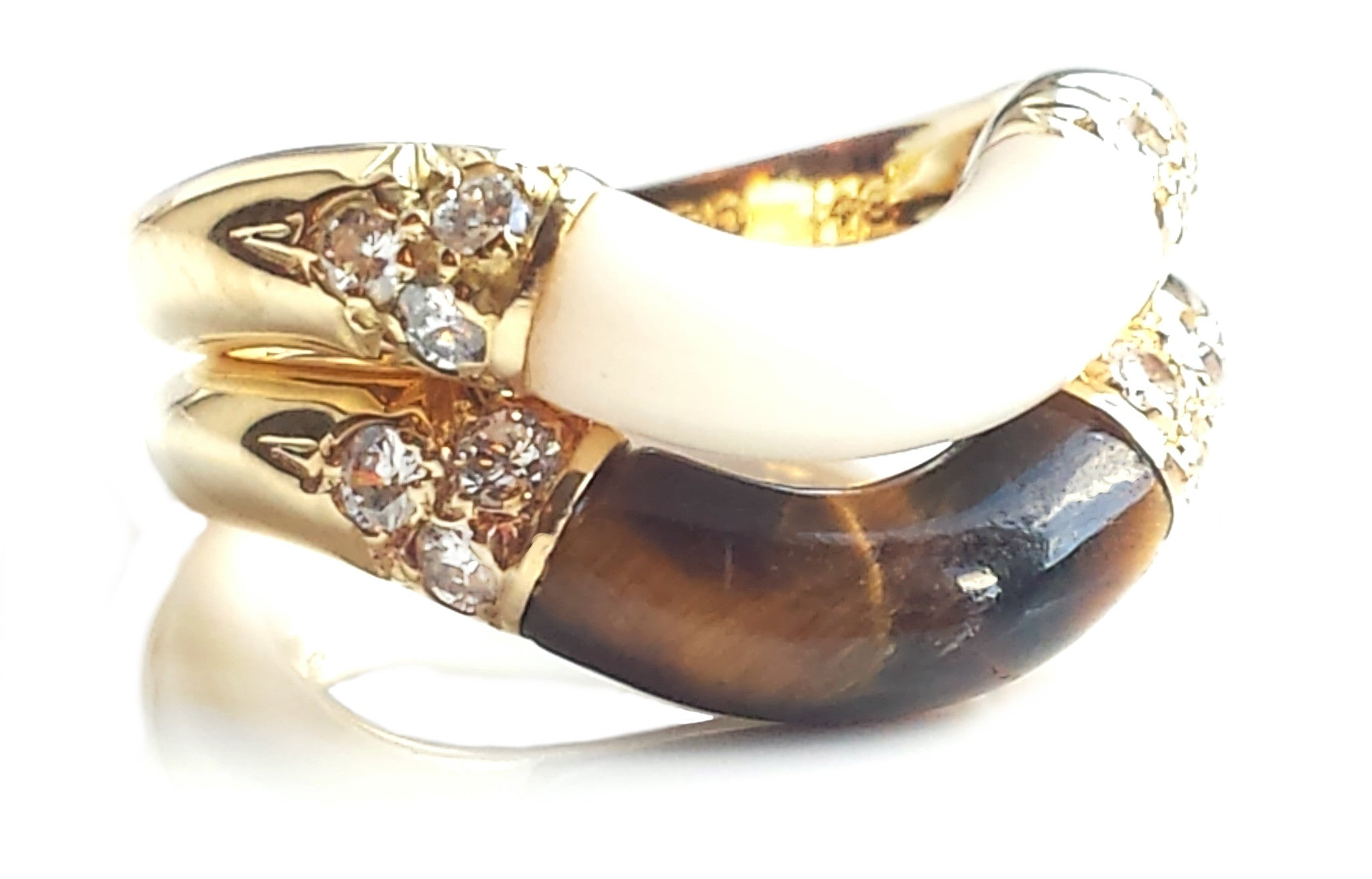 products tigers elis designer midcentury ring finnish silver tiger eye finish rings sterling my img kauppi modern