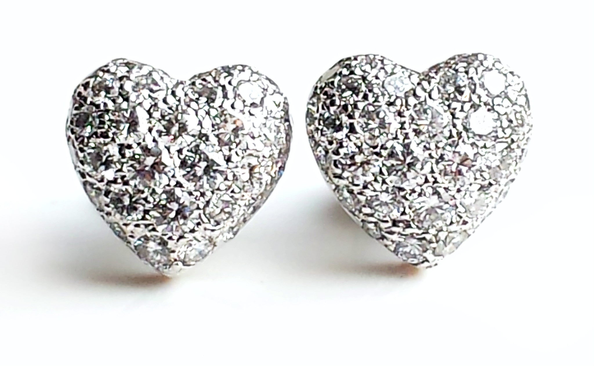 Cartier 1.0tcw Diamond Pavé Set Heart Earrings in 18k White Gold