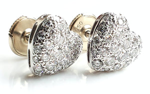 pre-owned, second hand, used, Cartier Diamond Earrings