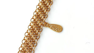 Tiffany & Co. Elsa Peretti Mesh Necklace in 18k Yellow Gold