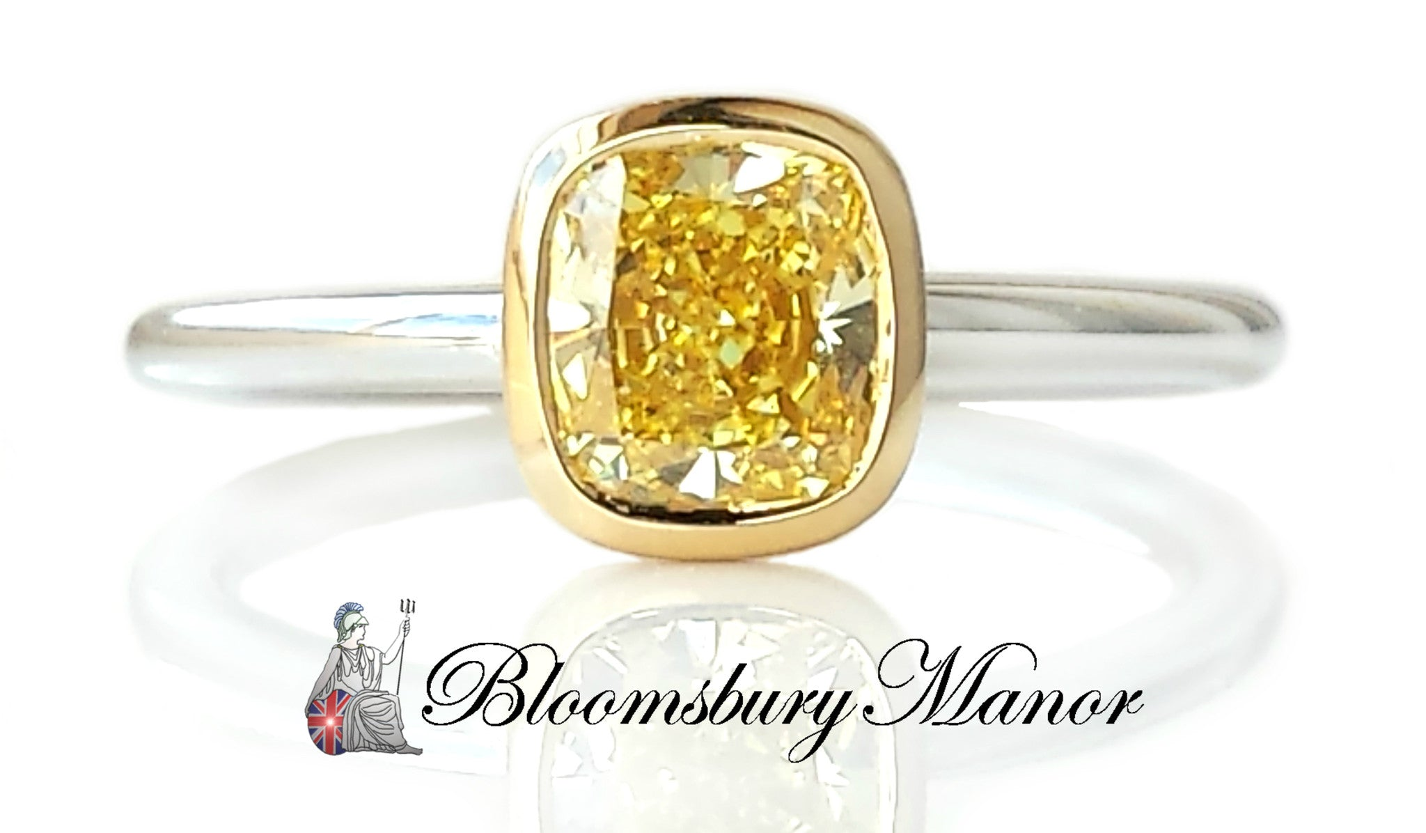 Tiffany Co 0 94ct Fancy Yellow Fiy Vs2 Bezet Diamond Engagement Ring