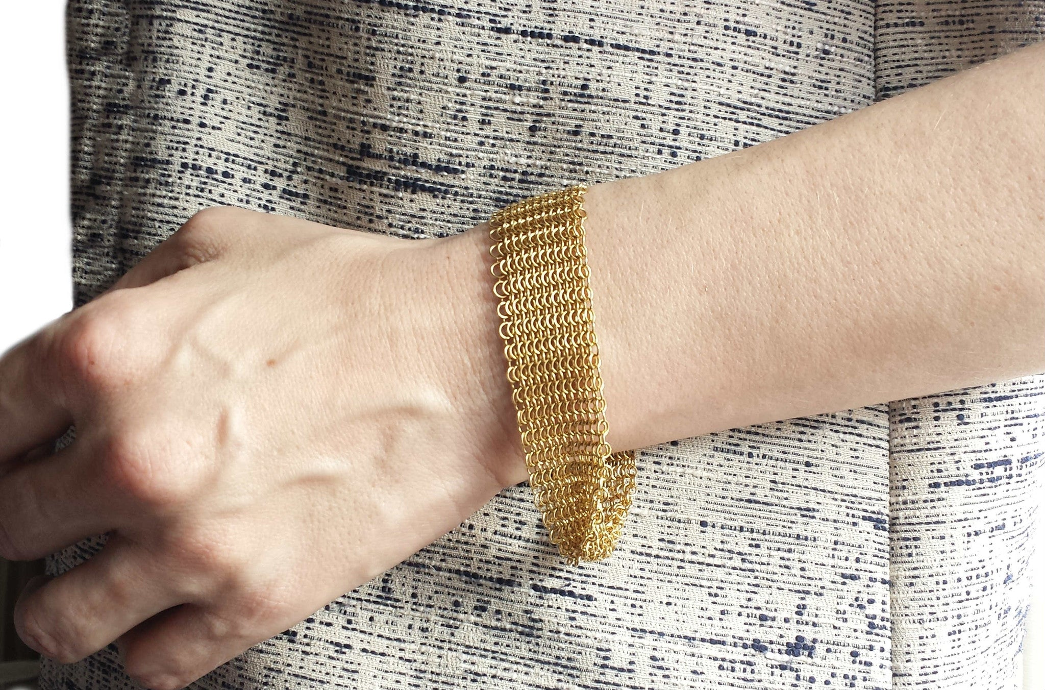 1eb5d427f Tiffany & Co. Elsa Peretti 18k Yellow Gold Mesh Bracelet - Medium ...