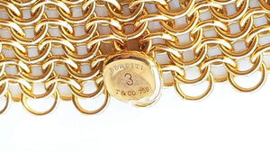 Tiffany & Co. Elsa Peretti 18k Yellow Gold Mesh Bracelet - Medium