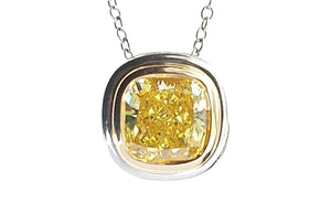 Tiffany & Co. Bezet™ Set 1.52ct FV/VVS2 Fancy Vivid Yellow Diamond Pendant