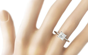 Tiffany & Co. 1.13ct E/VS2 Princess Cut Diamond Engagement Ring