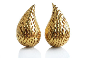 Vintage 1960s Tiffany & Co. 18k Yellow Gold Teardrop Earrings