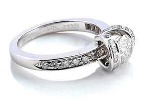 Tiffany & Co. 0.76tcw G/VVS1 Ribbon 'Triple X' Round Brilliant Cut Diamond Engagement Ring