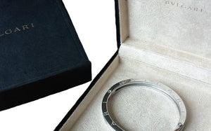 Bulgari B.Zero1 Pave Diamond Bangle Bracelet SZ L 7.67in RRP £12,300