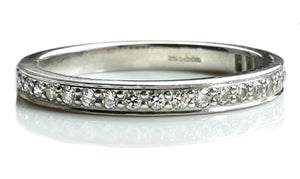 Tiffany & Co Diamond Grace 2mm Wedding Band SZ K