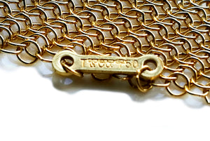 Tiffany & Co. Elsa Peretti 18k Gold Mesh Scarf Necklace, 38 inch