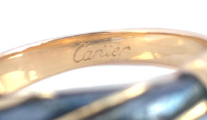 Vintage 80s Cartier 18k Yellow Gold Silverium Ring 51 (5.25)
