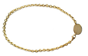 Tiffany & Co 18k Yellow Gold Oval Return To Choker Necklace 15.5in